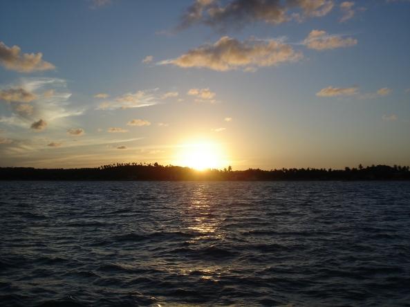 Por do sol em Maragogi